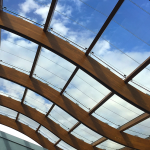 Curved photovoltaic custom skylight