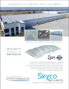 Industrial Skylight Capped vs. Capless