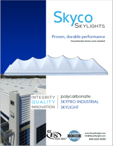 ICC-Listed Skypro Industrial Skylight