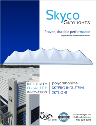 Polycarbonate Skypro Industrial Skylight- Info Sheet