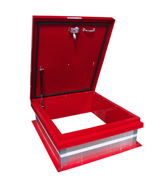 The lightest roof access hatch available. Featuring a durable aluminum lid and smooth open/close gas shock for safe rooftop access.